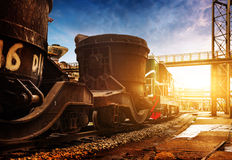 Steelworks train Royalty Free Stock Photos