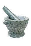 Steely mortar. A mortar like it`s used in kitchen Stock Images