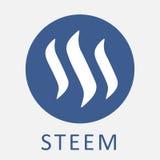 STEEM descentralizado blockchain-basó el medios logotipo social del vector del criptocurrency de la plataforma Fotografía de archivo libre de regalías