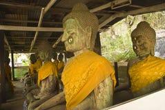 Steen Buddhas Royalty-vrije Stock Afbeeldingen