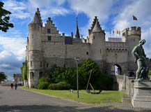 Steen castle in Antwerp, Belgium Royalty Free Stock Photos