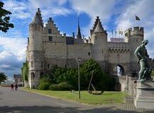 Steen castle in Antwerp, Belgium Royalty Free Stock Photos