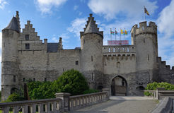 Steen castle in Antwerp, Belgium Stock Images
