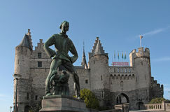 The Steen castle in Antwerp, Belgium Royalty Free Stock Images