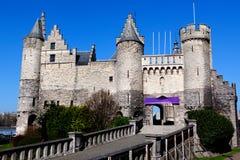 Steen Castle, Anvers, Belgique Images libres de droits