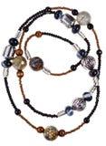 Steen, ceramisch, halsband van de glas de met de hand gemaakte vrouw royalty-vrije stock foto