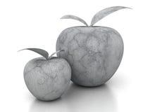 Steen concrete appel op witte achtergrond Stock Foto's