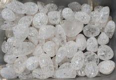 steen de gekristalliseerde van de kwarts (rots-kristal) gem als minerale rots royalty-vrije stock afbeelding