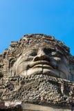 Steen die het hoofd van Boedha glimlachen Stock Foto