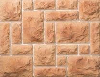 Steen en baksteenmetselwerkmuren Stock Afbeeldingen