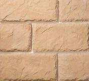 Steen en baksteenmetselwerkmuren Stock Fotografie