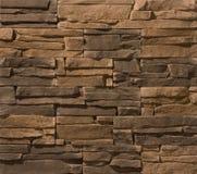 Steen en baksteenmetselwerkmuren Stock Afbeelding