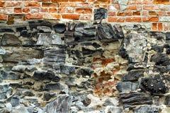 Steen en bakstenen Stock Foto