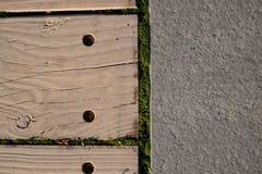 Steen en hout Stock Foto