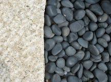 Steen en kiezelstenen Stock Afbeeldingen