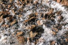 Steen en waterachtergrond Stock Foto