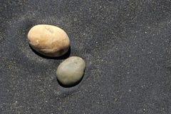 Steen en zand Royalty-vrije Stock Foto's