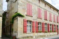 Steen façade van Frankrijk stock afbeeldingen