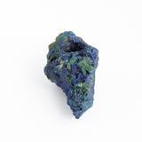 Steen gelijkend op een asteroïde op een witte achtergrond Stock Foto's