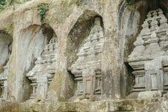 Steen gesneden monumenten in Gunung Kawi Stock Fotografie