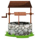 Steen goed met dak vector illustratie