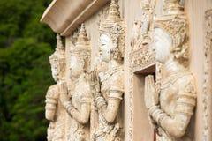 Steen het bidden vrouwengravures Stock Afbeeldingen