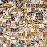 Steen marmeren mozaïek als achtergrond Stock Fotografie