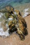 Steen op het strand royalty-vrije stock afbeelding