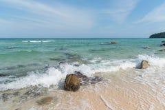 Steen op het strand Stock Foto