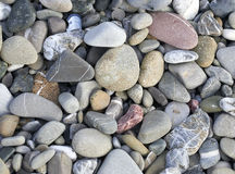 steen op het strand van Marinella in Ligurië Stock Foto