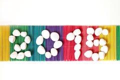 Steen 2015 op kleurenmat Stock Afbeeldingen