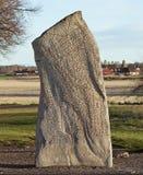 Steen in runen van de 9de eeuw wordt geregeld die Royalty-vrije Stock Afbeelding