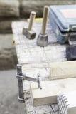 Steen snijdende hulpmiddelen Stock Foto's