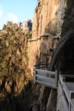 Steen Steile Stappen Trekking het lopen wandelingshuangshan Berg royalty-vrije stock fotografie