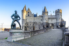 Steen w Antwerp, Belgia Zdjęcie Royalty Free