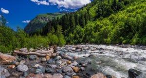 Steenachtige kust Amanauz Stock Foto's