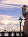 Steenbastion in Peter en Paul Fortress in de stad van St Stock Foto