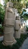 Steenbeeldhouwwerken, Ann Norton Sculpture Gardens, het Westenpalm beach, Florida Royalty-vrije Stock Afbeelding