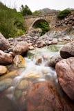Steenbrug over Fango-rivier, Corsica, Frankrijk Stock Fotografie