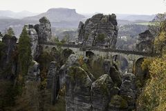 Steenbrug Saksisch Zwitserland royalty-vrije stock afbeelding