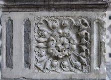 Steendecoratie (Bloemenornament) royalty-vrije stock fotografie