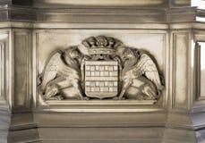 Steendecoratie (Genoa City Symbol) royalty-vrije stock afbeelding