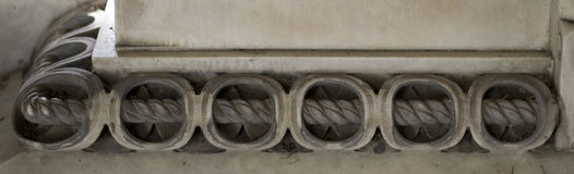 Steendecoratie (Kabelornament) stock afbeeldingen