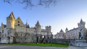 Steenen i Antwerp, Belgien Arkivbilder