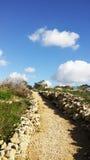 Steengang, Malta Stock Afbeeldingen