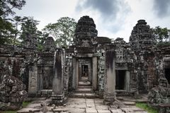 Steengebouwen in Kambodja stock foto's