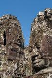 Steengezichten van Bayon-Tempel Royalty-vrije Stock Fotografie
