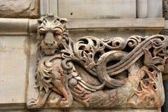 Steengravure van leeuw royalty-vrije stock foto's