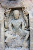 Steengravure van Lord Shiva, Masroor, Kangra, Himachal Pradesh, India royalty-vrije stock afbeeldingen