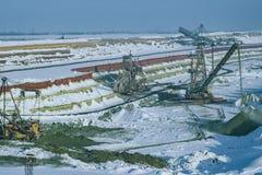steengroeve Roterende complex Stock Foto